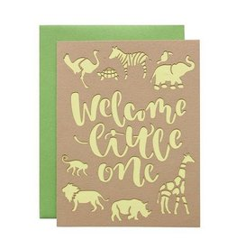 alexis mattox design welcome little one laser cut card