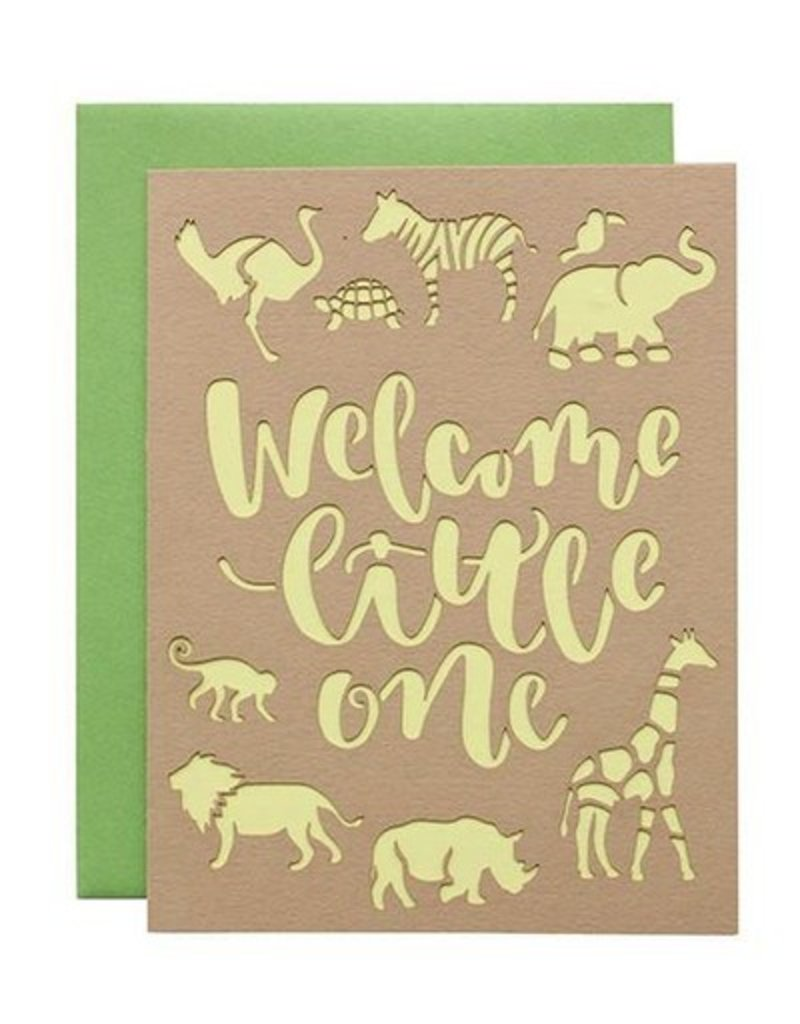 alexis mattox design welcome little one laser cut card stash