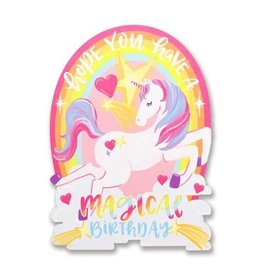 alexis mattox design unicorn birthday die cut card