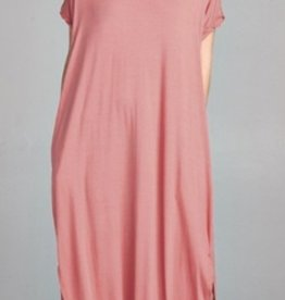rosewood stretch jersey maxi