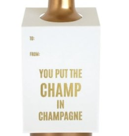 chez gagne champ in champagne wine tag