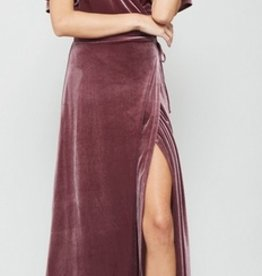 velvet wrapped holiday maxi dress