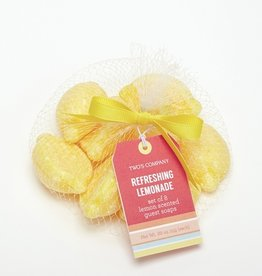 two's company lemon guest soap set of 8 in mesh bag FINAL SALE