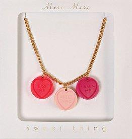 meri meri love heart necklace