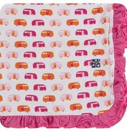 kickee pants natural camper ruffle toddler blanket