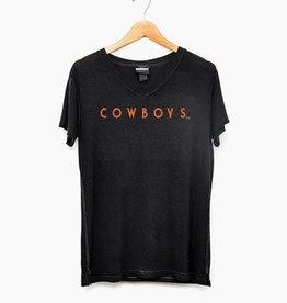 LivyLu simply cowboys v-neck cowboys slouchy tee