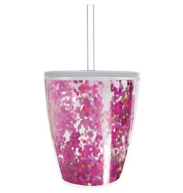 slant Pink Confetti Tumbler
