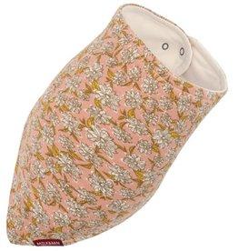 milkbarn rose floral kerchief bib