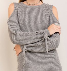 entro laceup sweater