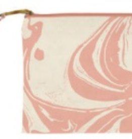 slant Peach Marble Cosmetic Bag FINAL SALE