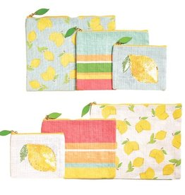two's company when life give you lemons bags (set of 3)