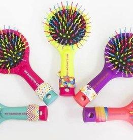 my rainbow brush w/ FREE hair tie