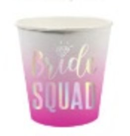 slant bride squad 4oz paper shot cups - 10ct