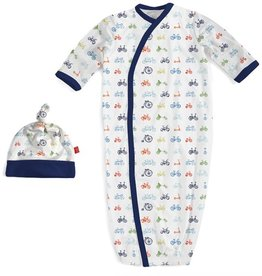 Magnificent Baby bike modal magnetic gown and hat set