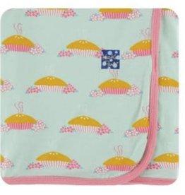 kickee pants apple pie blossom print swaddling blanket