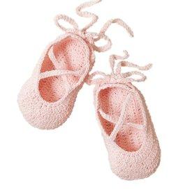 ballerina bootie hand crocheted - pink