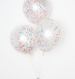 diy confetti balloons: tiny rainbow