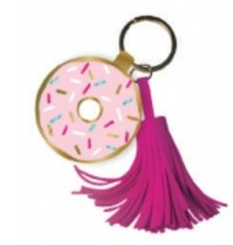 slant donut keychain with tassel