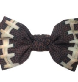 Baby Bling football printed knot headband FINAL SALE