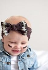 Baby Bling football printed knot headband FINAL SALE