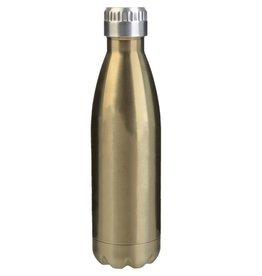 slant gold stainless steel water bottle
