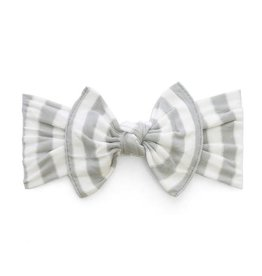 Baby Bling grey stripe knot headband