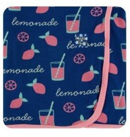 kickee pants pink lemonade print swaddling blanket