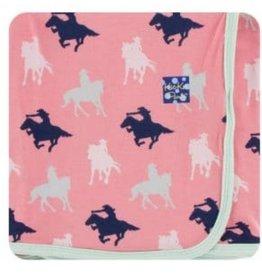 kickee pants strawberry cowgirl print swaddling blanket