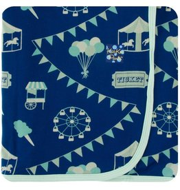 kickee pants flag blue carnival print swaddling blanket