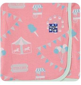 kickee pants strawberry carnival swaddling blanket