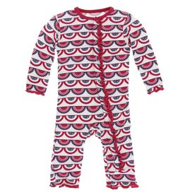 kickee pants flag swag print muffin ruffle coverall with snaps