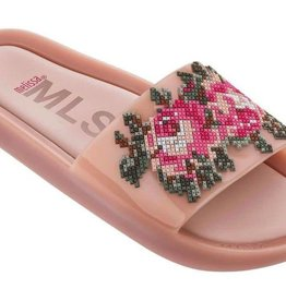 mini melissa pink beach slide flower