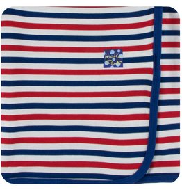 kickee pants usa stripe print swaddling blanket