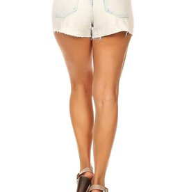 destroyed cut off sequin denim shorts FINAL SALE