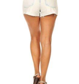 destroyed cut off sequin denim shorts