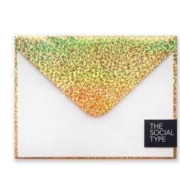 gold glitter hologram note set