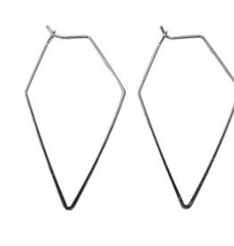 amelie silver diamond shaped earrings