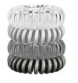 4 pack hair coils - charcoal