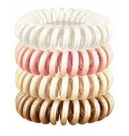 4 pack hair coils - rose