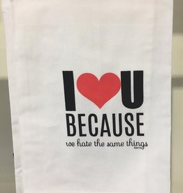twisted wares we hate the same things kitchen towel