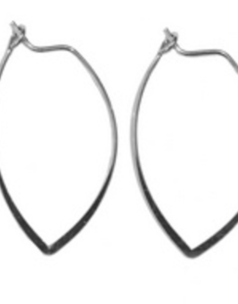 amelie silver marquise earrings
