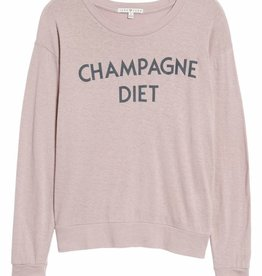 champagne diet long sleeve tee