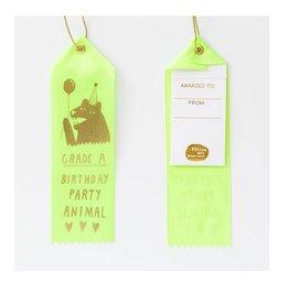 grade A party animal award ribbon