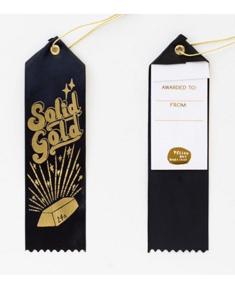 24k solid gold award ribbon