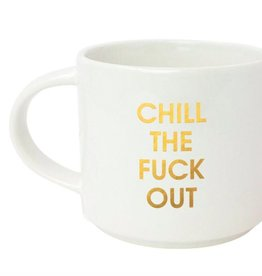 chez gagne chill the fuck out mug