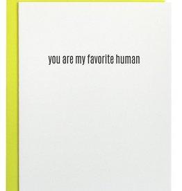 chez gagne favorite human letterpress card
