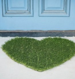 heart grass doormat