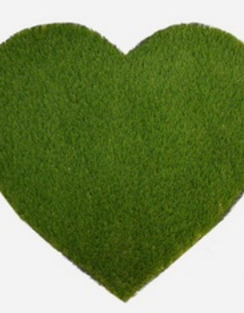 heart grass doormat