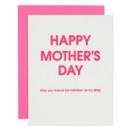 chez gagne mistaken as your sister mothers day card