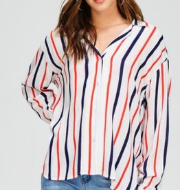 rayne striped button down shirt